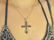 Black Cross with Chain