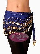 Best Royal Blue Belly Dance Scarf