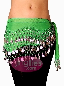 best Green colored dancing hip scarf