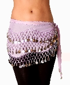 Lavender colored belly dancing scarf
