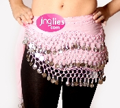 Light Pink colored Belly Dance Scarf