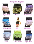 Plus Size Hip Scarf Belly Dancing Dance Plus Sizes